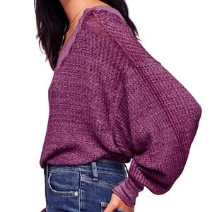 Free People Southside Thermal in Violet XS NWT